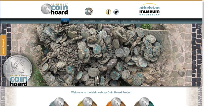 Malmesbury coin hoard website