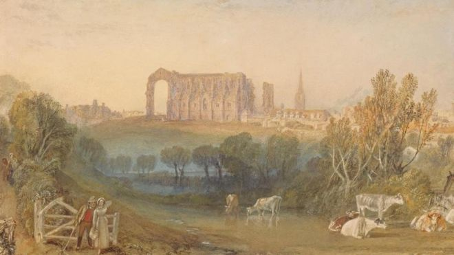 Malmesbury Abbey by JMW Turner